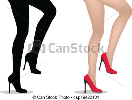 Heels clipart human Vector high with with Clipart