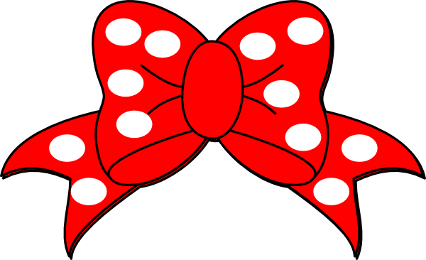 Ribbon clipart minnie mouse #1