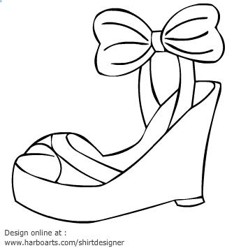 Sandal clipart black and white #4