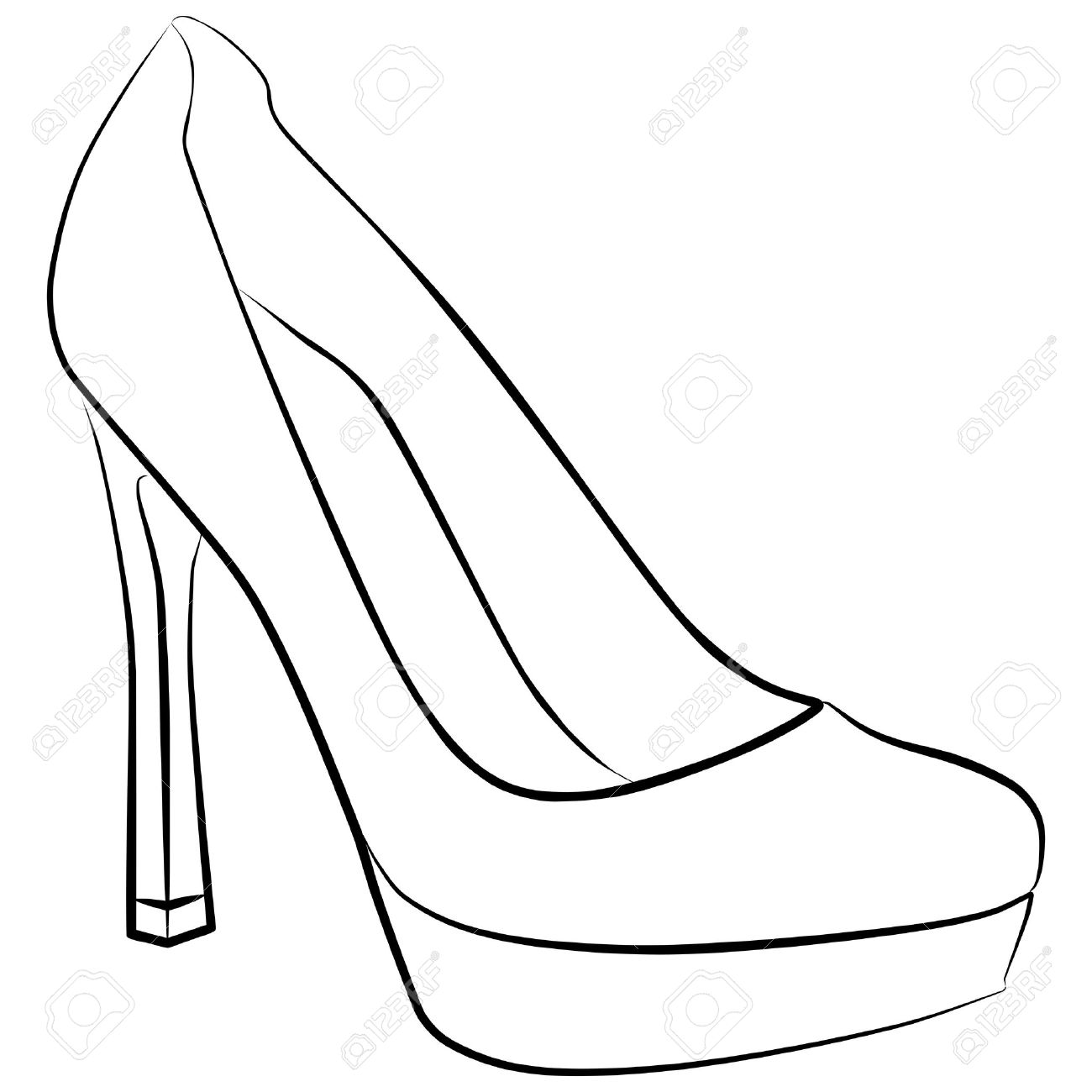 Drawn shoe high heel High outline Google Search Google