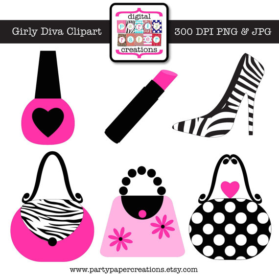Zebra clipart shoe Makeup Purse Diva Diva Shoe