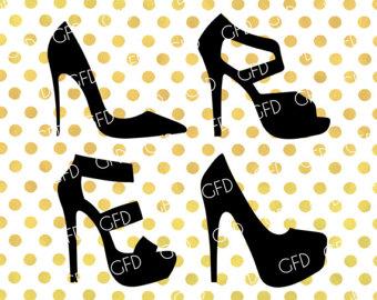 Heels clipart polka dot Shoes SVG clipart High High