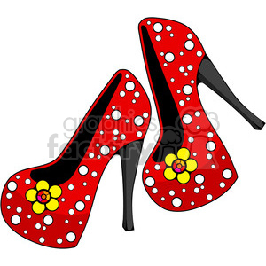 Heels clipart polka dot Royalty Free 387440 and red