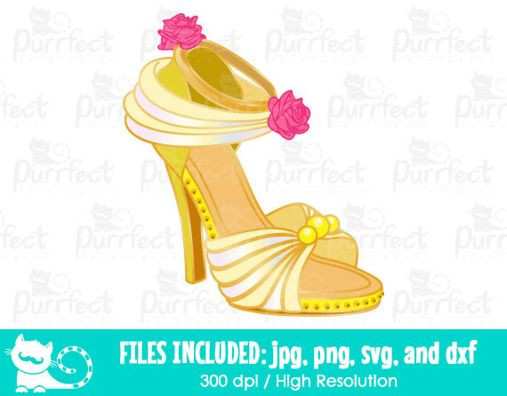 Heels clipart princess Disney dxf  Belle Disney