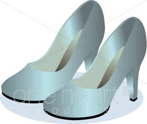 Heels clipart princess Satin Satin Bridal Shoes Clipart