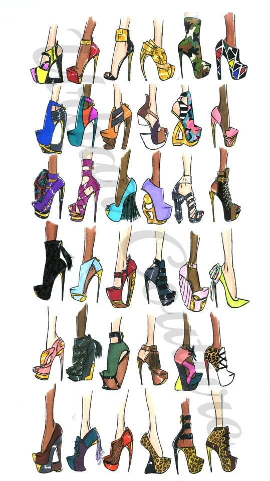 Heels clipart sketched 247 illustrations Urban Pinterest about
