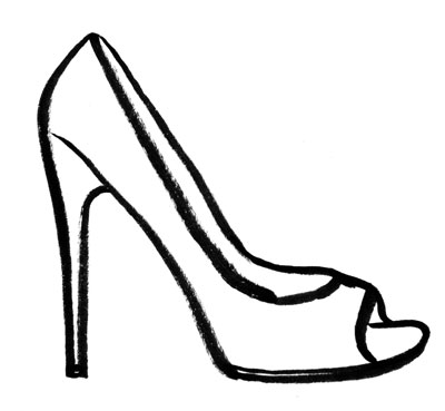 Heels clipart sketched Online clip  These shoe