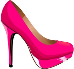 Heels clipart sketched Pink vector style kids Silhouette