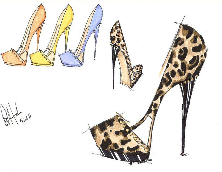 Heels clipart sketched Tbdswqw Shoe Fashion Sketches Pinterest
