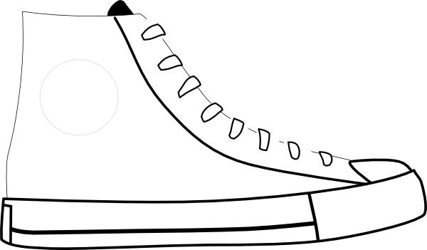 Converse clipart black and white 5 clipart Shoe Clipart Pictures