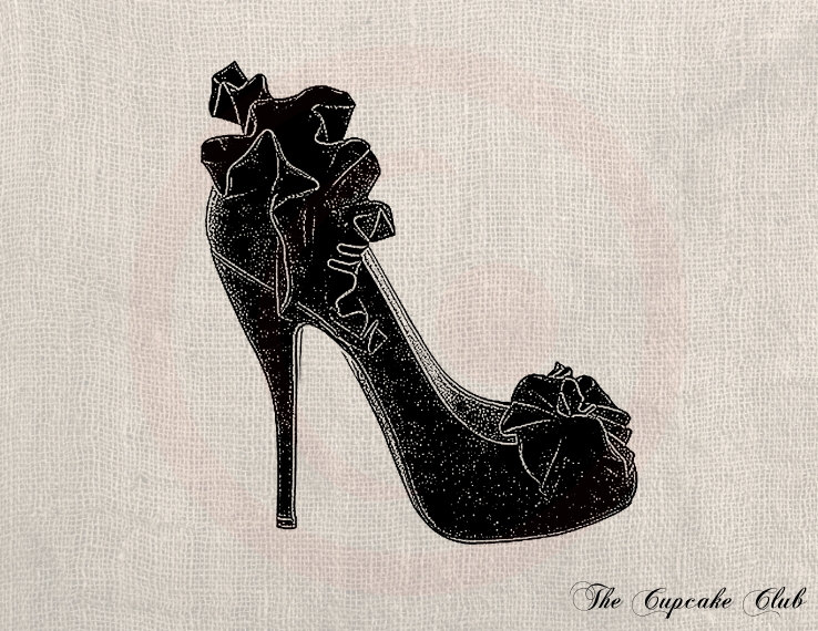 Heels clipart vintage shoe Digital Chic Black DIY Art