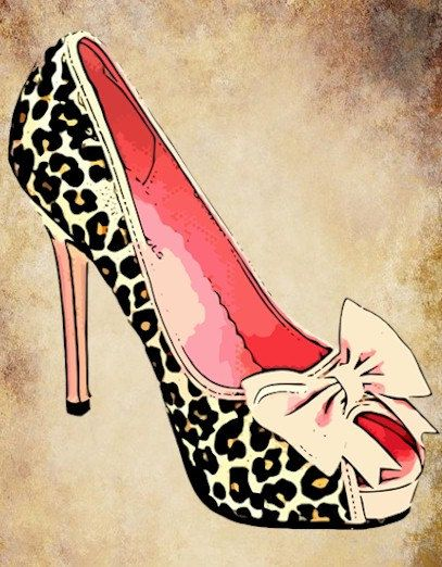 Heels clipart vintage shoe High graphic commercial fashion clip