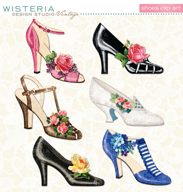 Heels clipart vintage shoe Via and shoes Shoes Dreamin