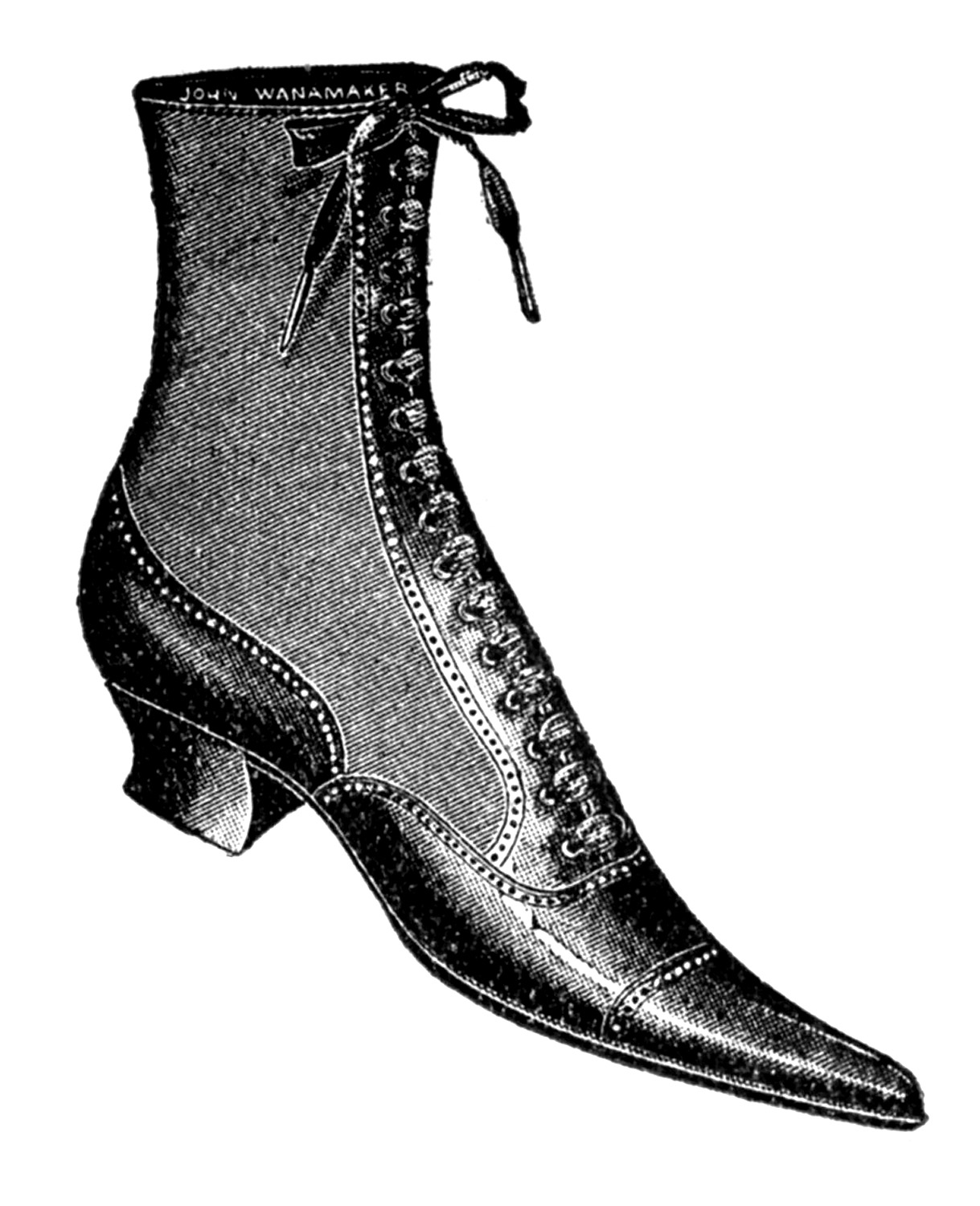 Heels clipart vintage shoe Ladies Ladies and Clip Boots