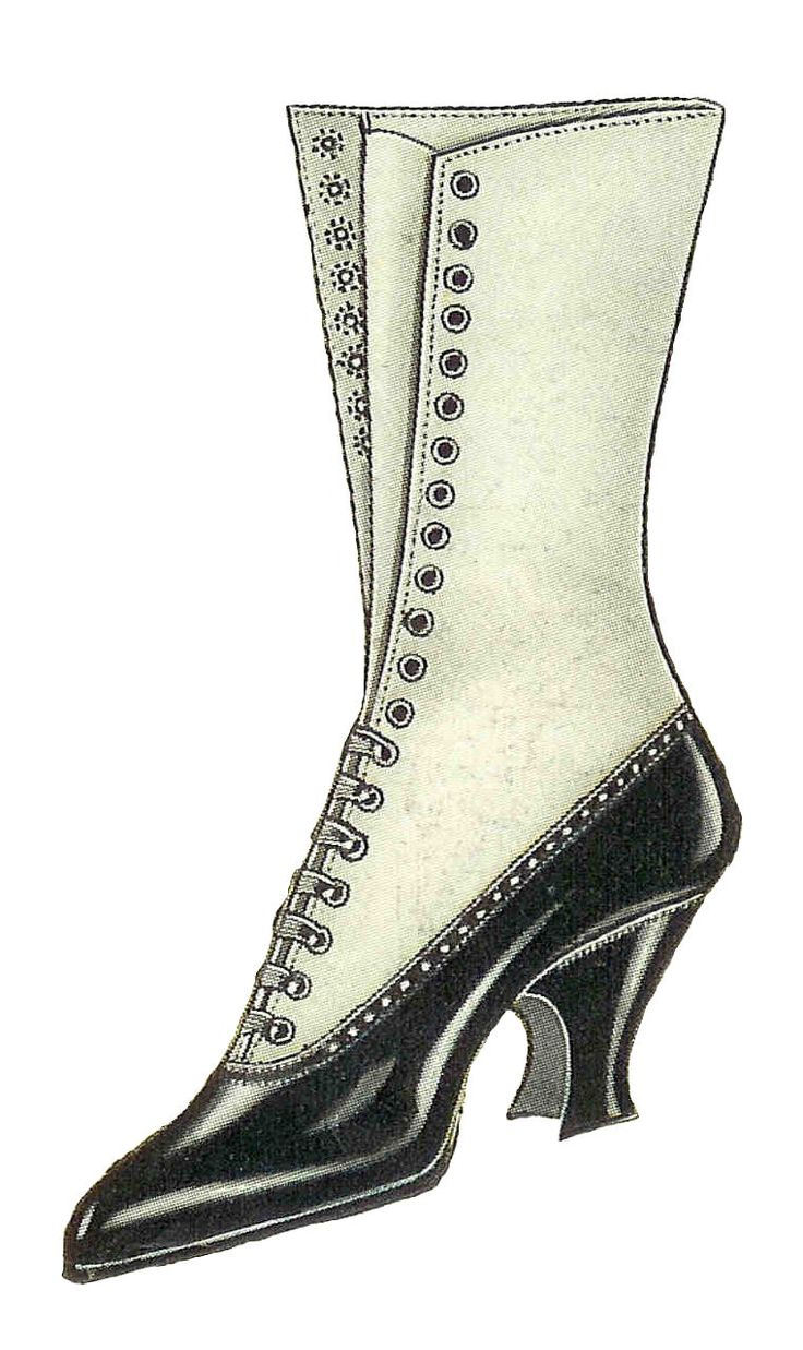 Boots clipart victorian 108 Shoes on Womens of