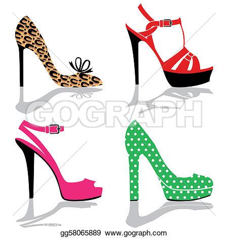 Heels clipart women's shoe Free Women Art Heels Heels