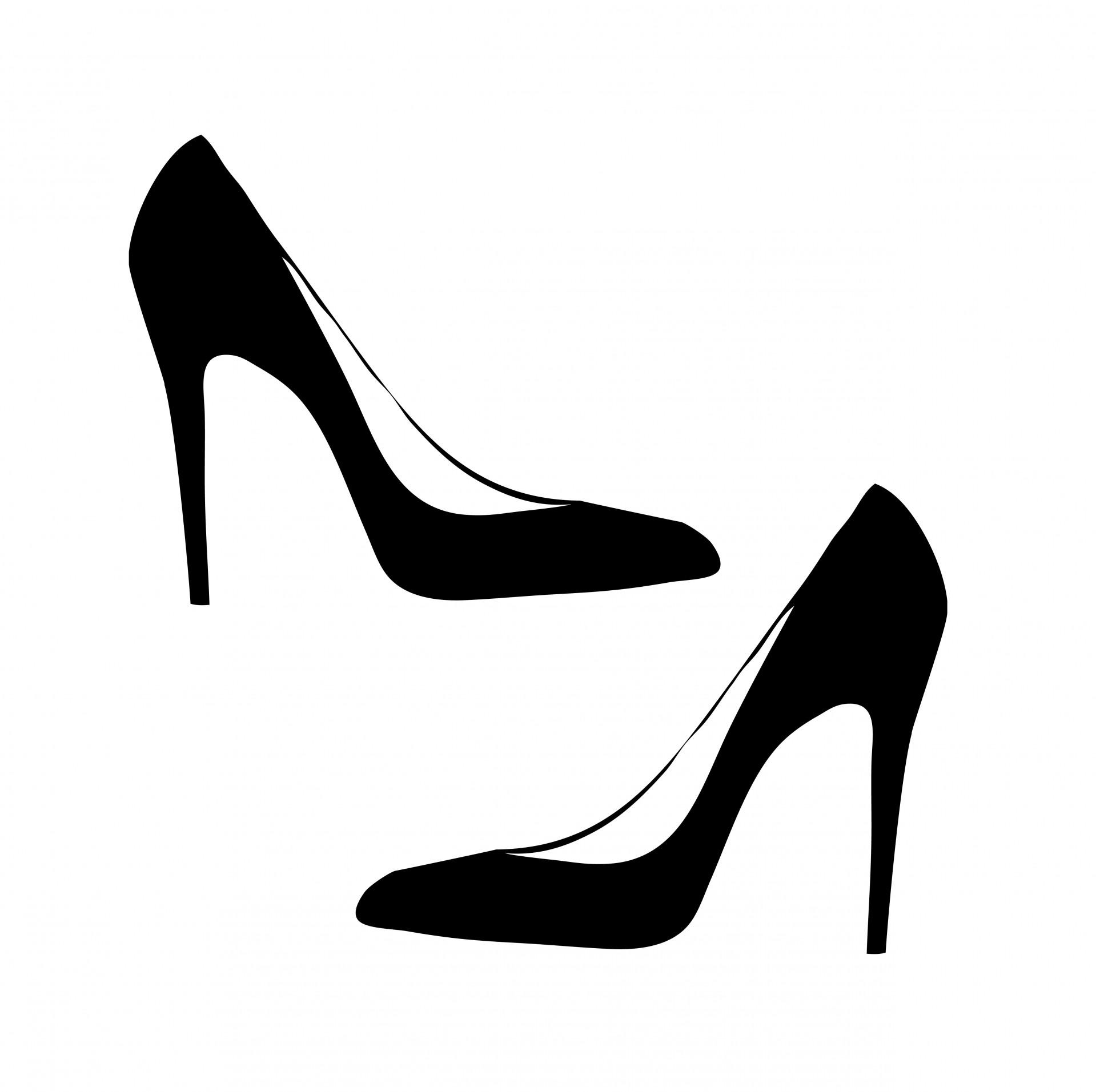 Heels clipart women's shoe Public Black Stock For Black