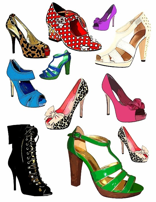 Sandal clipart footwear High png shoes collage digital