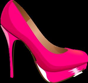 Heels clipart women's shoe Illustrations vector and Pink Clker