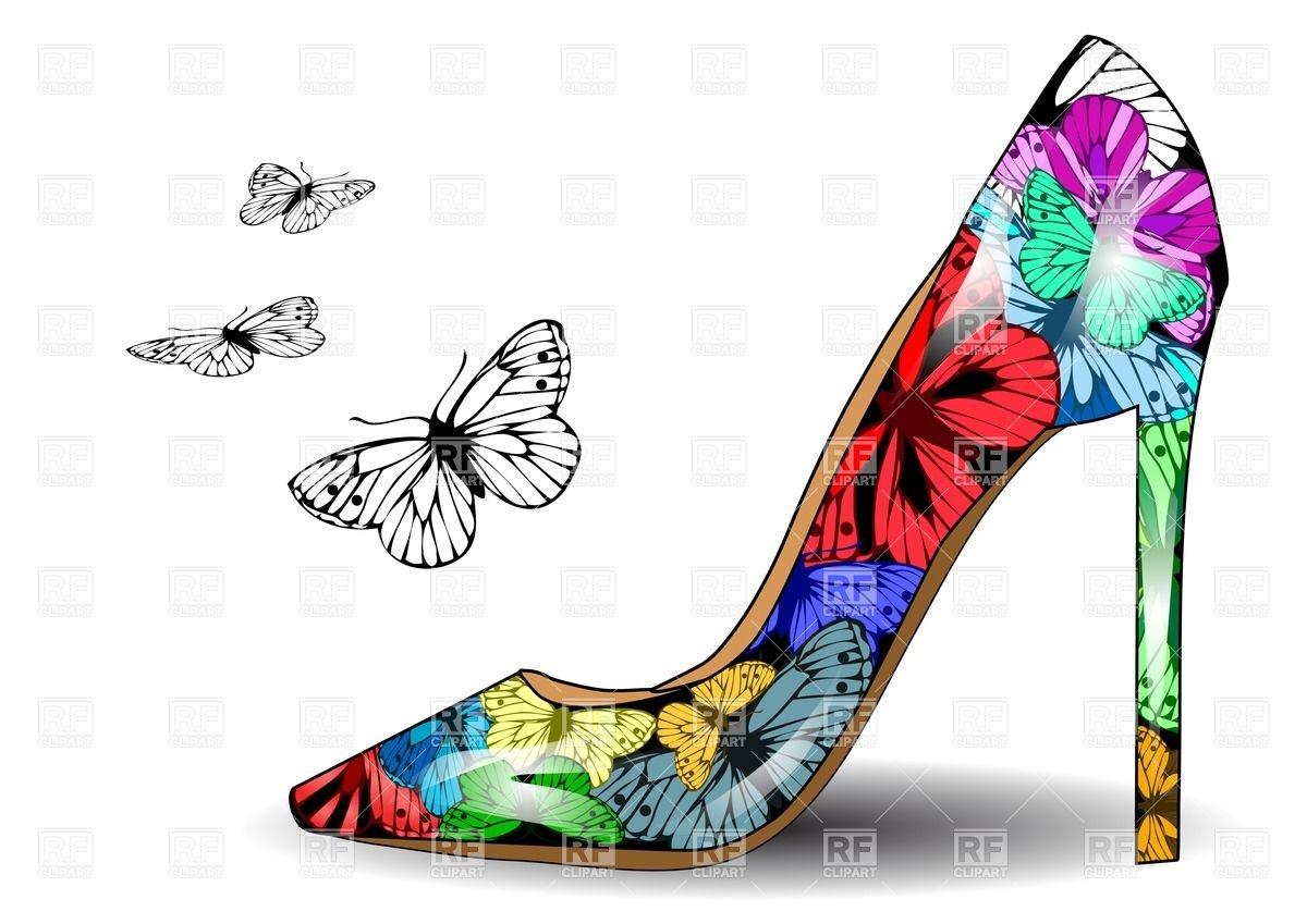Heels clipart women's shoe Shoe Beauty with Art print