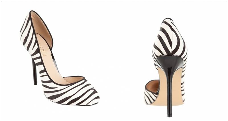 Zebra clipart high heel Printed black cut colour Shoes