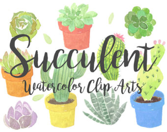 Heh clipart Watercolor Invitation Clipart Succulent Download