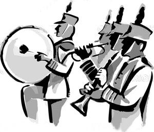 Brass clipart band conductor Be Tomorrow Marching bands by: