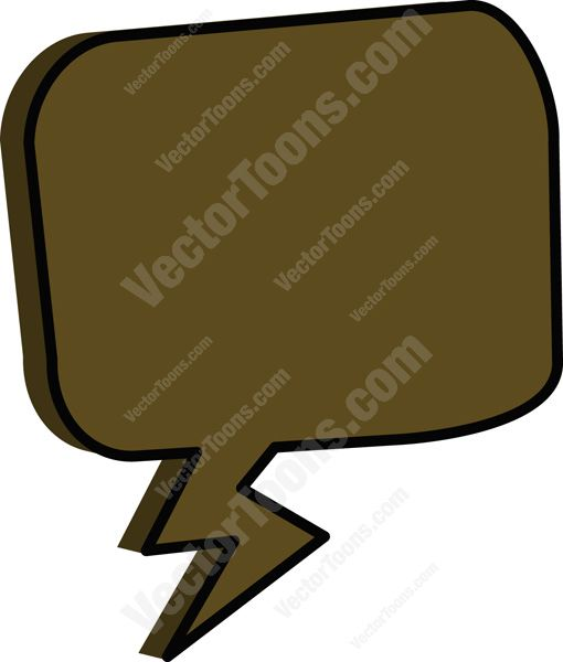 Heh clipart speech bubble Brown Rounded Bubble Cartoons Thought