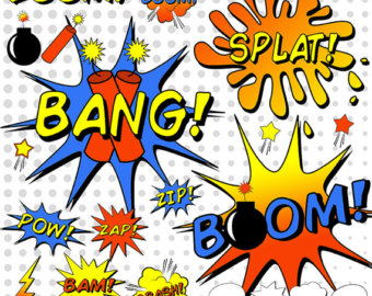 Word clipart comic book Book Etsy Clipart Book Sounds