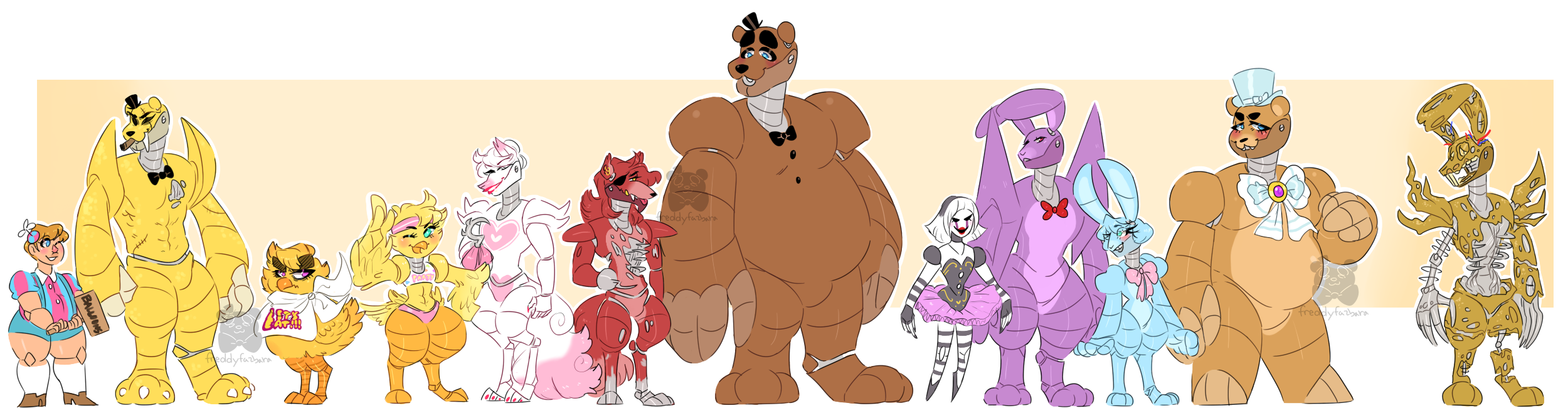 Heights clipart height chart Dongoverlord Height Fnaf Chart Chart