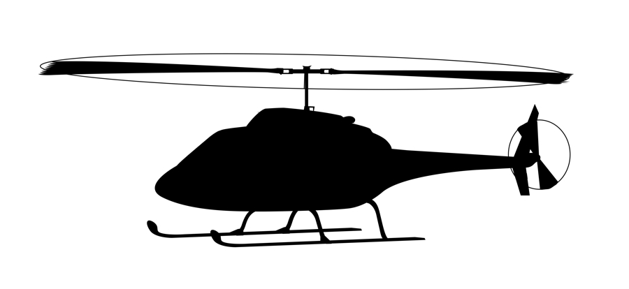 Helicopter clipart Black Helicopter  Clipart