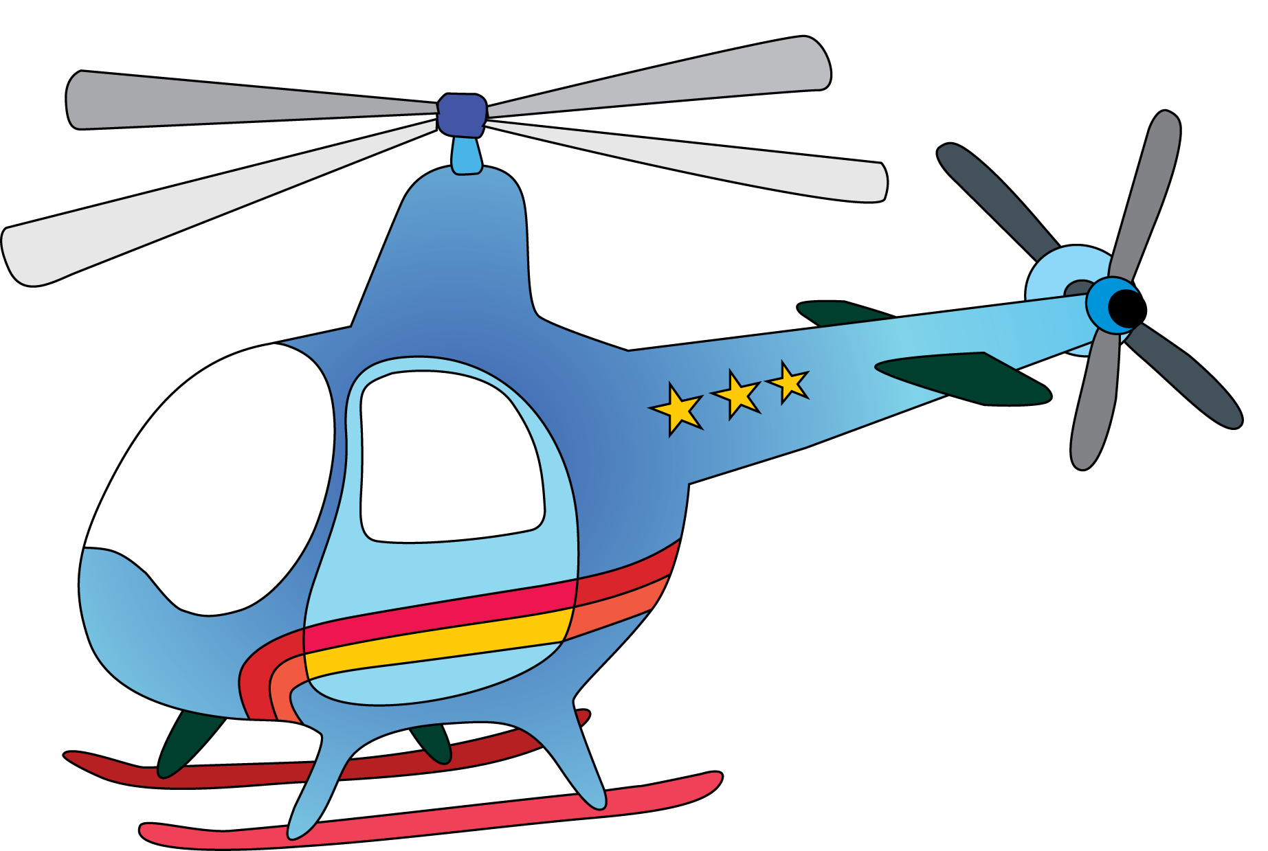 Helicopter clipart Art Panda clipart Helicopter helicopter