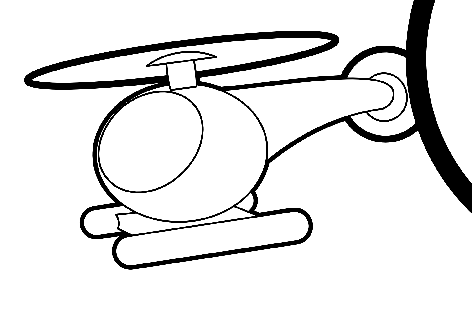 Black & White clipart helicopter Black  Clipart Clipart White