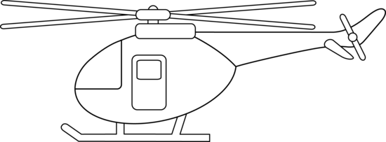 Black & White clipart helicopter Colorable Art Design Helicopter Clip