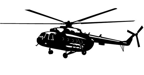 Black & White clipart helicopter And Black Blackhawk White Clipart