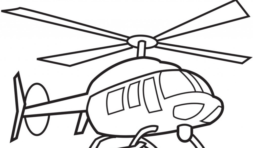 Black & White clipart helicopter Coloring print download helicopter Helicopter