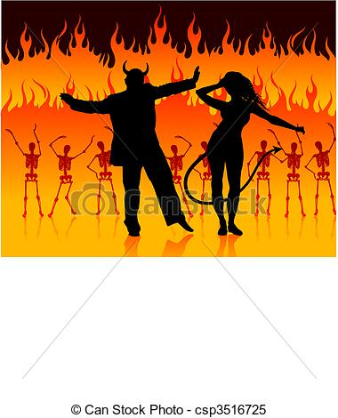 Hell clipart Vector in dancing hell of