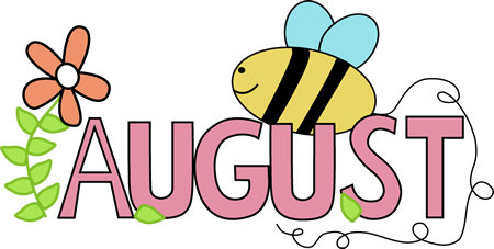 Hello! clipart august August word Month the August