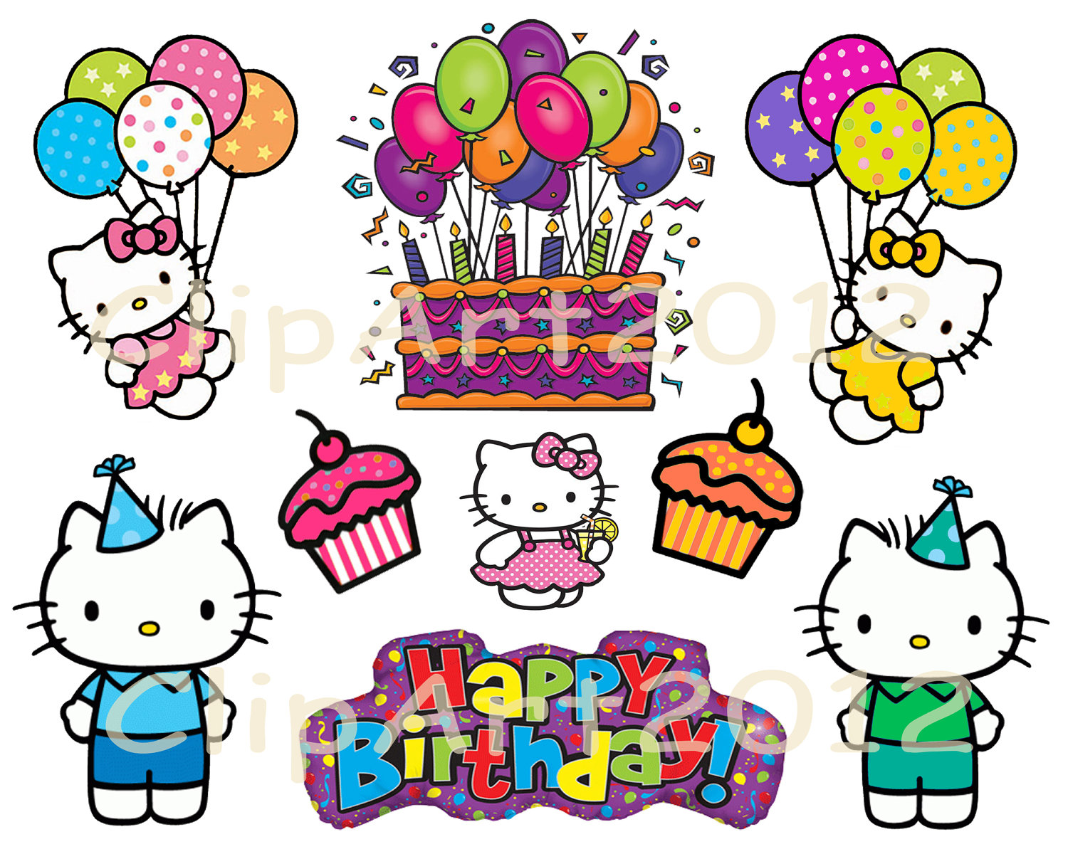Hello! clipart birthday Others Kitty and Hello Cliparts