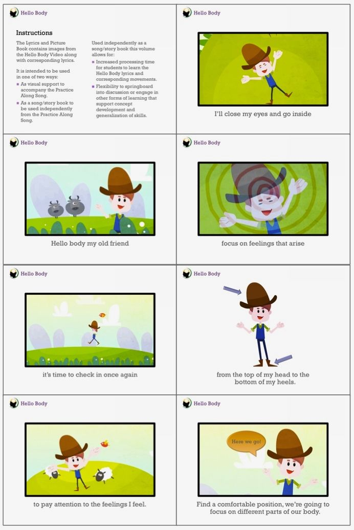 Hello! clipart child body Mindfulness Children and images 17