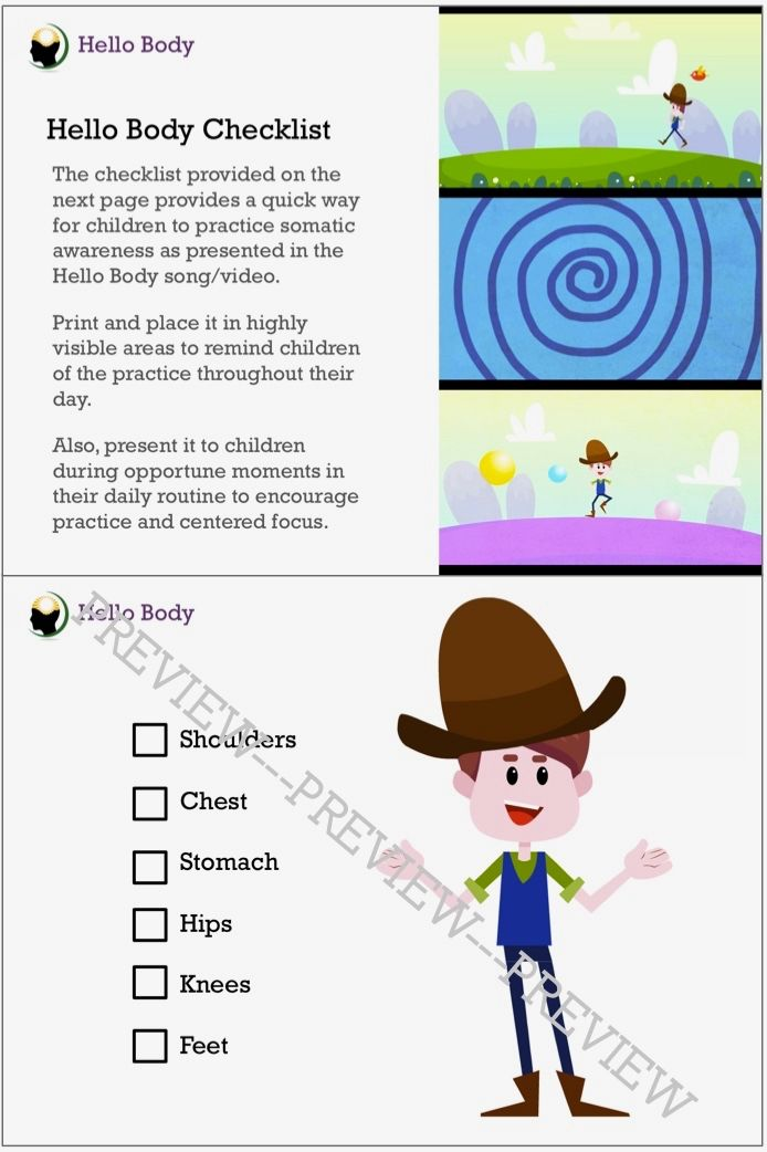 Hello! clipart child body Learning Hello  Mindfulness Based