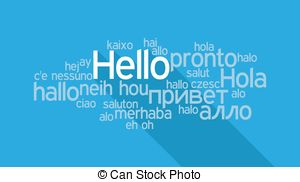 Hello! clipart ciao Languages Clip in in
