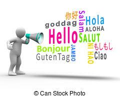 Hello! clipart different language Illustrations Languages language art clip