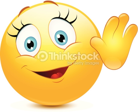 Hello! clipart emoticon Smiley clipart Vector Female clip