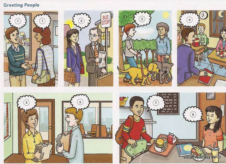 Hello! clipart english Site for situations  fill
