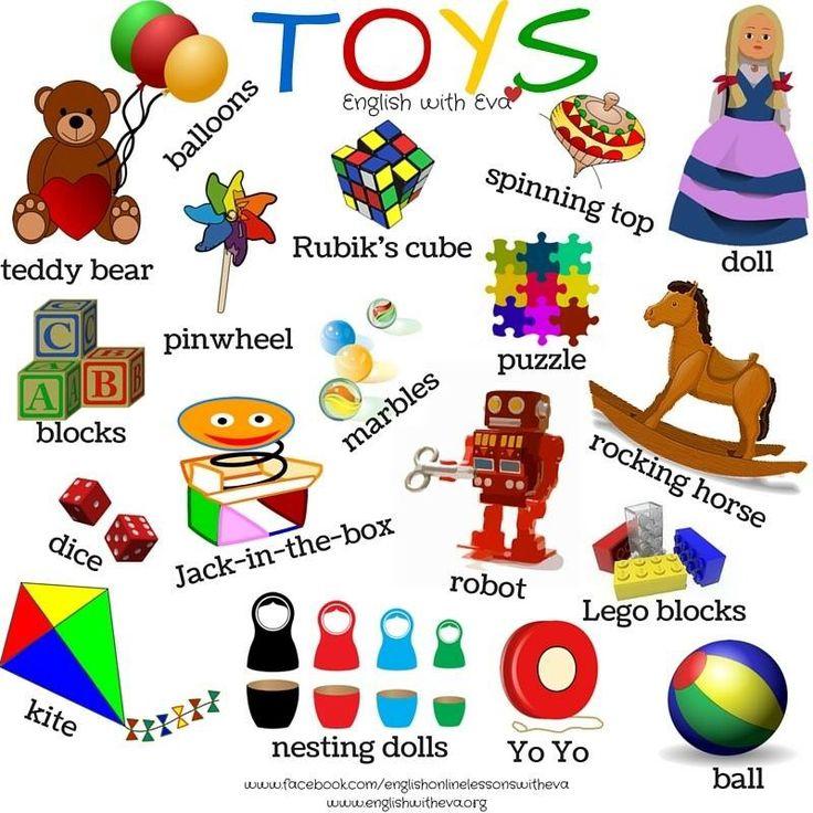 Hello! clipart english subject Toys Vocabulary for English EFL
