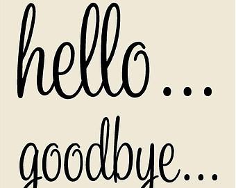 Hello! clipart farewell Disount Goodbye 50% Door Spring