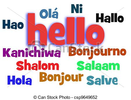 Hello! clipart hola In  word pictures free