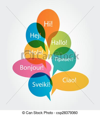 Hello! clipart kind word Word Art on Different Speech