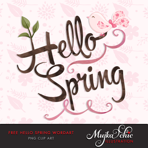 Hello! clipart kind word Spring Free Art  Word